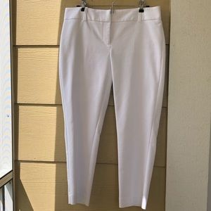 White House Black Market White Ankle Pants